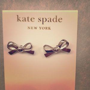 Kate Spade New York earrings, Silver tone